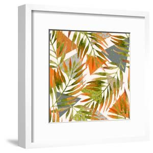 Abstract Summer Background - Triangles with Palm Tree Leaves by tanycya
