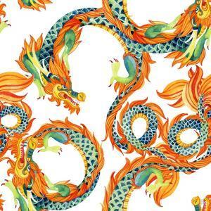 Chinese Dragon Pattern by tanycya