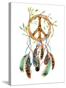 Dreamcatcher with Feathers and Peace Sign by tanycya