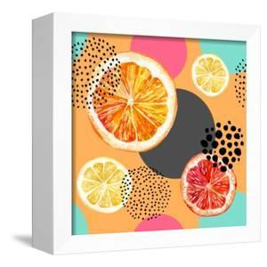 Fresh Citris and Colorful Circle Pattern by tanycya