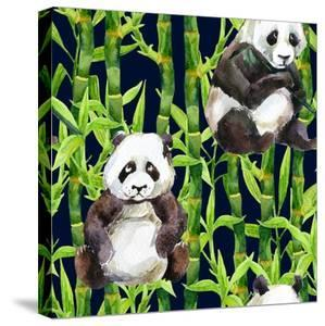 Pandas with Bamboo by tanycya
