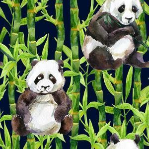 Pandas with Bamboo by tanycya