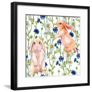 Rabbit Among Flowers by tanycya