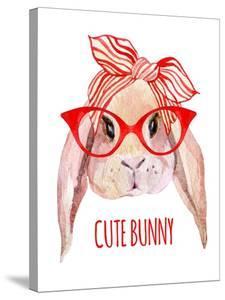 Rabbit Head in Glasses by tanycya