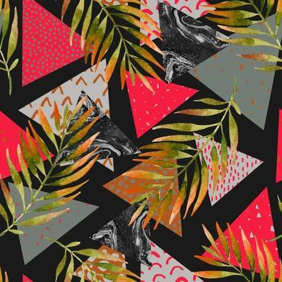 Triangles with Palm Tree Leaves