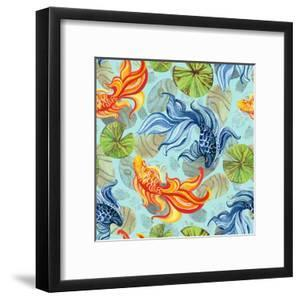 Watercolor Asian Goldfishes by tanycya