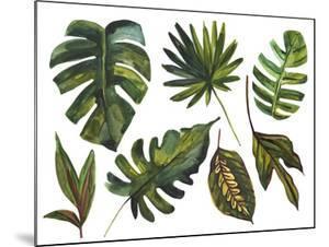 Watercolor Tropical Leaf Set by tanycya