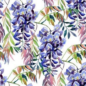 Wisteria Flower Watercolor by tanycya