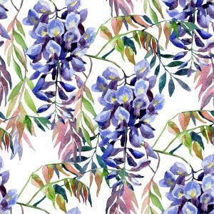 Wisteria Flower Watercolor by tanycya