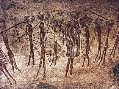 Tanzania, Dodoma Region, Kondoa, Rock Drawings--Giclee Print