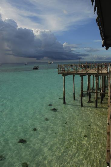 Tanzania, Zanzibar, Nungwi, Transparent Turquoise Sea and White Beach-Anthony Asael-Photographic Print