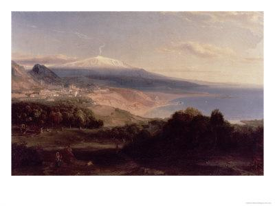 Taormina and Etna, c.1840-Carl Rottmann-Giclee Print