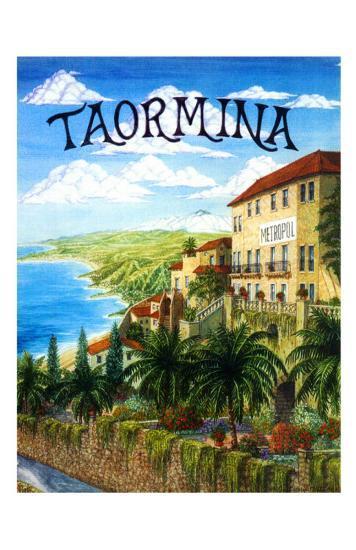 Taormina, Sicily, Italy-Caroline Haliday-Giclee Print