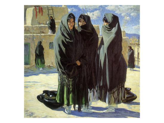 Taos Girls, 1916-Walter Ufer-Giclee Print