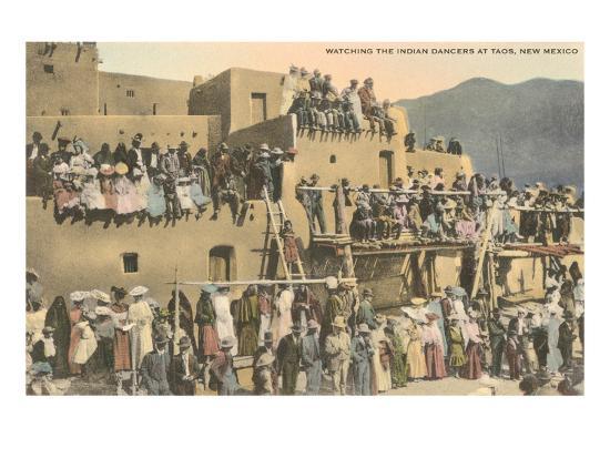 Taos Pueblo Indian Dances, New Mexico--Art Print