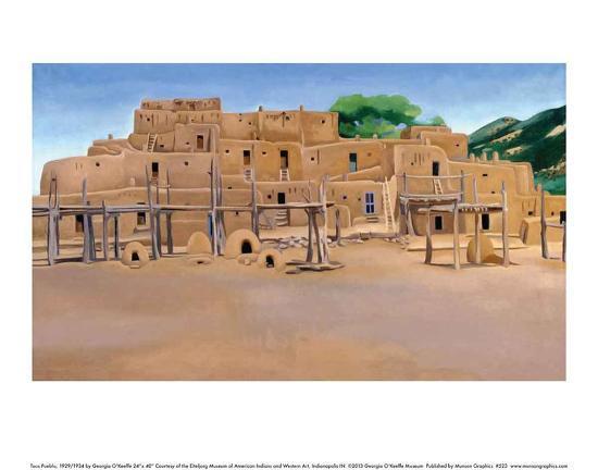 Taos Pueblo-Georgia O'Keeffe-Art Print