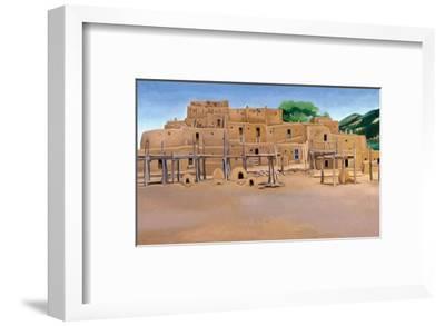 Taos Pueblo-Georgia O'Keeffe-Framed Art Print
