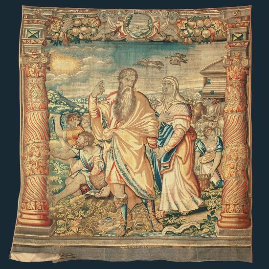 Tapestry Depicting the Descent from the Ark and the Series of the Life of Noah-Paulus van Nieuwenhove-Giclee Print