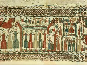 Tapestry Detail Illustrating the Struggle Between Christianity and Paganism