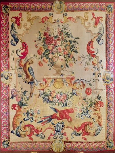 Tapestry in Early Rococo Style with Strapwork and Acanthus Leaves by Joshua Morris, 1720s--Giclee Print