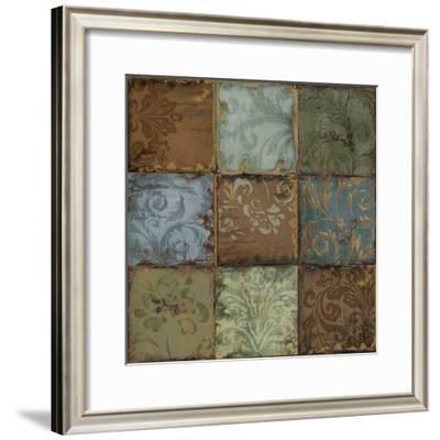 Tapestry Tiles II-Daphné B.-Framed Giclee Print