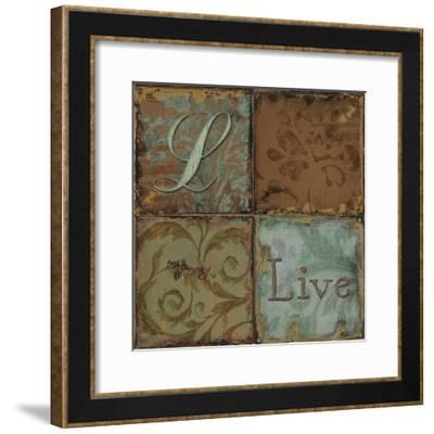 Tapestry Words I-Daphné B.-Framed Giclee Print