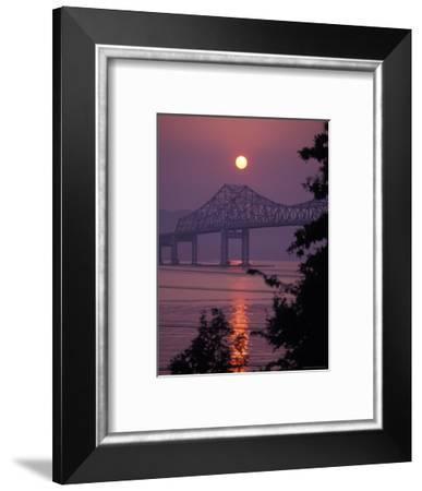Tappen Zee Bridge at Sunset over the Hudson River in Terrytown, New York-Richard Nowitz-Framed Photographic Print