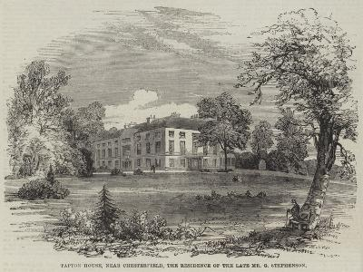 Tapton House, Near Chesterfield, the Residence of the Late Mr G Stephenson--Giclee Print