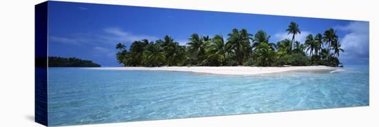 Tapuaetai Motu from the Lagoon, Aitutaki, Cook Islands--Stretched Canvas Print