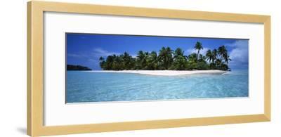 Tapuaetai Motu from the Lagoon, Aitutaki, Cook Islands--Framed Photographic Print