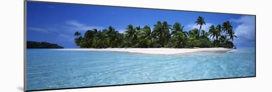 Tapuaetai Motu from the Lagoon, Aitutaki, Cook Islands--Mounted Photographic Print