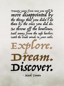 Explore, Dream, Discover by Tara Moss