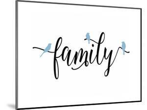 Family Blue Birds by Tara Moss