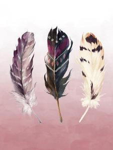 Feathers on Pink by Tara Moss