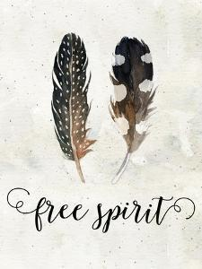 Free Spirit Watercolor Feathers by Tara Moss