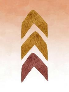 Gold and Maroon Tribal Arrows by Tara Moss