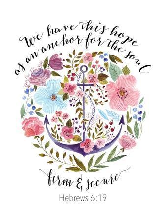 Hebrews 6-19 Floral Anchor