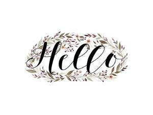 Hello Floral Wreath by Tara Moss
