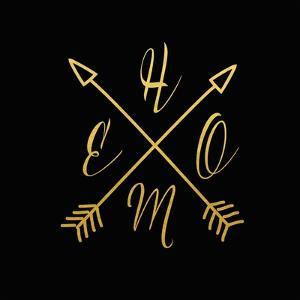 Home Arrows Gold and Black by Tara Moss