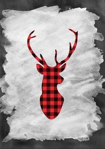 Plaid Deer Head by Tara Moss