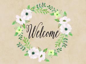 Welcome Green Wreath by Tara Moss