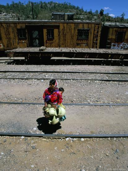 Tarahumara Indian Mother and Child, Copper Canyon Train, Mexico, North  America Photographic Print by Oliviero Olivieri   Art com