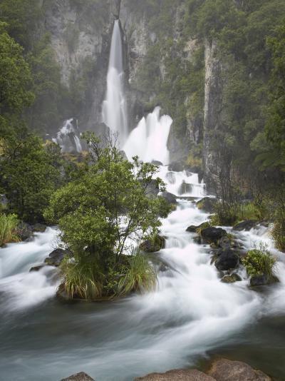 Tarawera Falls, Tarawera River, North Island, New Zealand-David Wall-Photographic Print