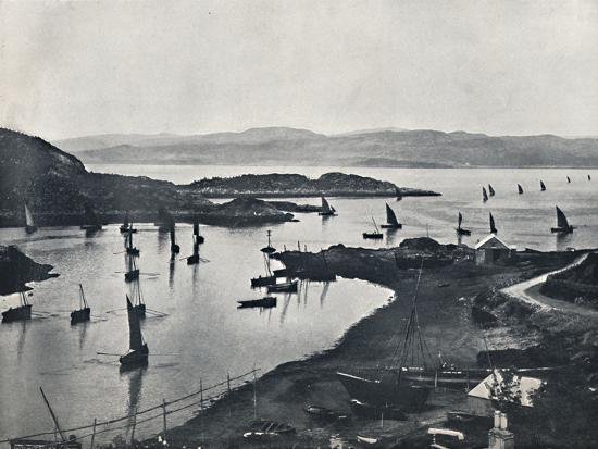 'Tarbert - Fishing Boats Going Out', 1895-Unknown-Photographic Print