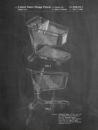 Target Shopping Cart Patent-Cole Borders-Art Print