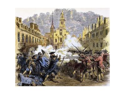 American Revolutionary War (1775-1783). the Boston Massacre (1770).