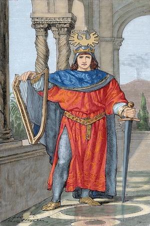 Frederick II Hohenstaufen (1194-1250). Holy Roman Emperor.