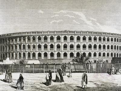 History. 19Th Century. Spain. Valencia. Bullring. Engraving.