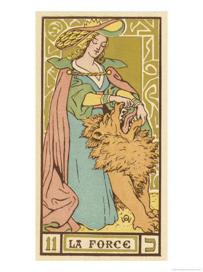 Tarot: 11 La Force, Strength-Oswald Wirth-Giclee Print
