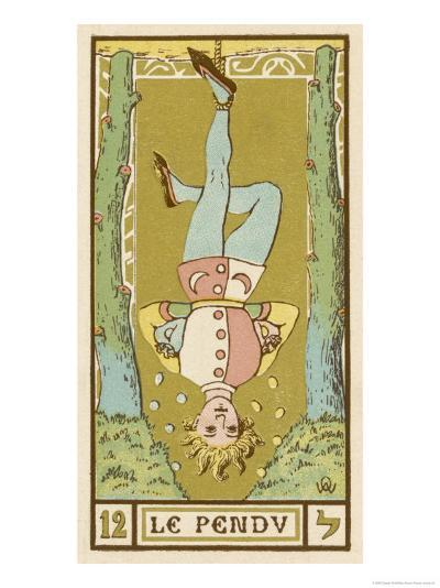 Tarot: 12 Le Pendu, The Hanged Man-Oswald Wirth-Giclee Print